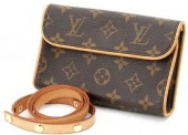 Louis Vuitton 激安 ルイヴィトン 新品 モノグラム ポシェット フロランティーヌ M51855+サンチュール・プトン プレション M67303