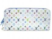 Louis Vuitton 激安 ルイヴィトン 新品 マルチカラー 財布 ポルトフォイユ・アンソリット ブロンxレザン(ブルー) M93749