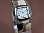 バーバリー 新作&送料込Burberry Signature Collection White Swiss Quartz腕時計 J-BU0011