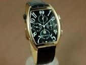 フランクミュラー 新作&送料込Franck Muller Watches Casablanca Complications RG/LE Black Handwind ChronosLemania手巻き J-FN0053