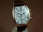 フランクミュラー 新作&送料込 Franck Muller Watches Casablanca Chronographe RG White Deal Asia 7750 J-FN0063
