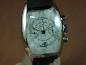 フランクミュラー 新作&送料込 Franck Muller Casablanca Chrono SS/LE White A-7750 腕時計 J-FN0098