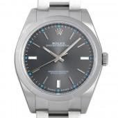 ロレックス 腕時計 オイスターパーペチュアル39 114300 ダークロジウム メンズ