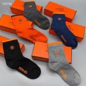 Hermes 靴下 1箱の5組新作 本革 新品同様超美品 通販&送料込  WZ001