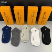 ルイヴィトン 靴下 1箱の5組新作 新品同様超美品 通販&送料込 WZ007