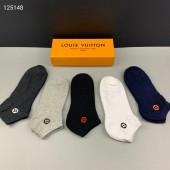 ルイヴィトン 靴下 1箱の5組新作  新品同様超美品 通販&送料込 WZ006