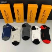 ルイヴィトン 靴下 1箱の5組新作  新品同様超美品 通販&送料込 WZ005