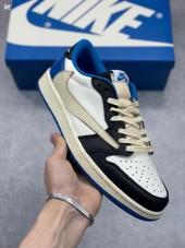 ナイキ 新作 本革 NIKE 靴 travis scott x fragment x air jordan aj1 low og sp military blue 通販&送料込 NK013